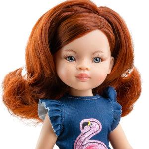 Кукла Инма в блузке с фламинго