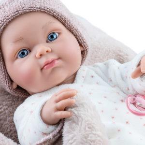 Кукла Бэби с коричневым одеялком, мальчик, 32 см