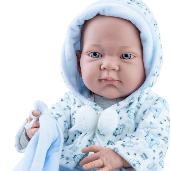 Кукла Бэби с голубым слюнявчиком, мальчик, 36 см