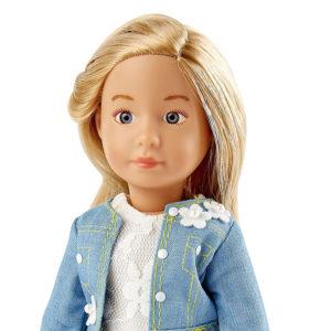Кукла Вера Kruselings в весеннем нарядном костюме, 23 см