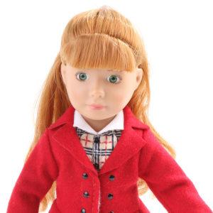 Кукла Хлоя Kruselings в красном пальто, 23 см